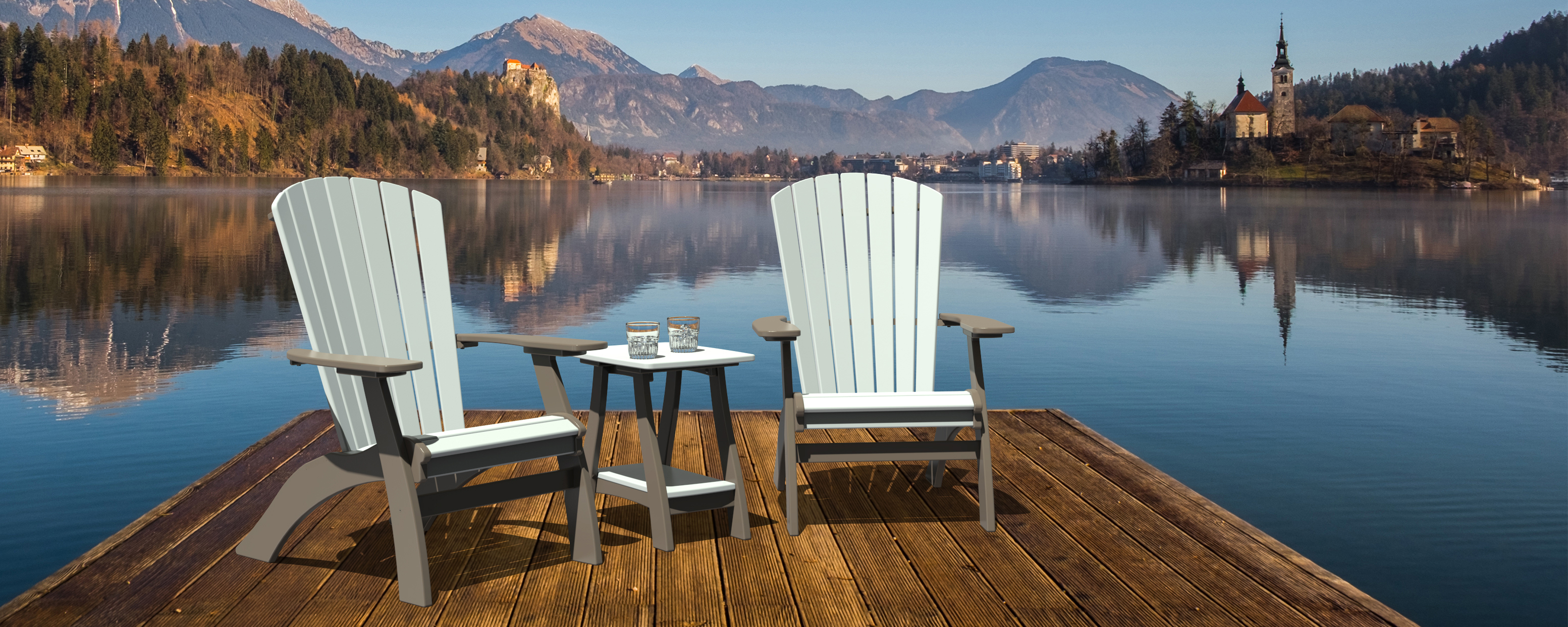 Coastal Adirondak chair set
